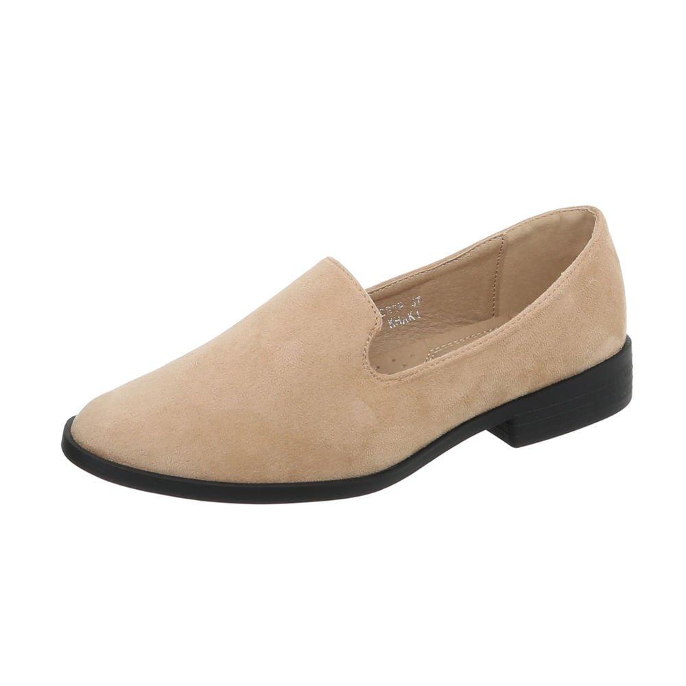 Ital-Design 5024 Chaussures Beige Femme Slippers Mocassins Bloc Slippers Beige C83p da80eb9 - reprogrammed.space