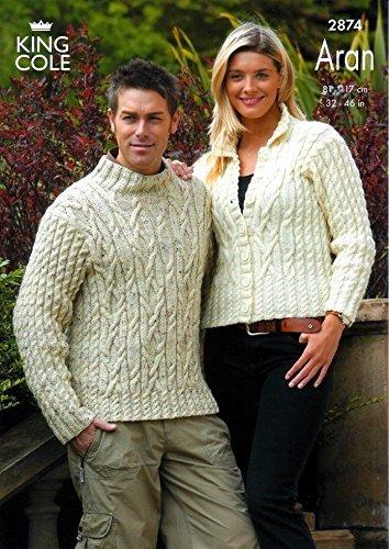 Amazon King Cole Fashion Aran Ladies Mens Sweater Jacket