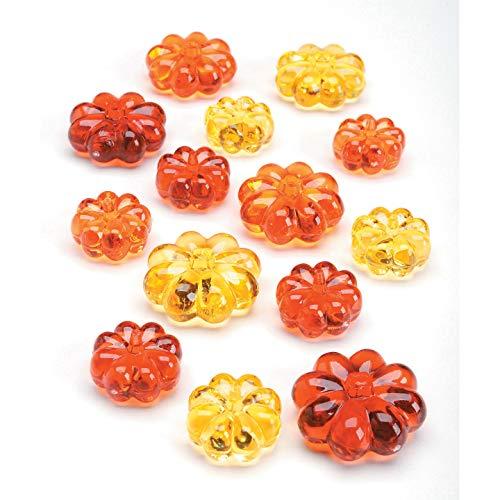 Darice Bulk Buy DIY Diamond Gems Acrylic Pumpkins Yellow and Orange 7 Ounce (6-Pack) 1151-60 -