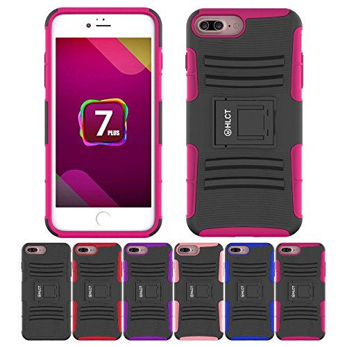 iPhone 7 Plus Case, HLCT Rugged Shock Proof Dual-Layer Case with Built-In...