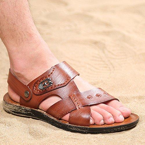 estate Il nuovo Uomini Spiaggia scarpa traspirante Uomini sandali fibra Uomini sandali Tempo libero Uomini scarpa ,Marrone,US=7.5,UK=7,EU=40 2/3,CN=41