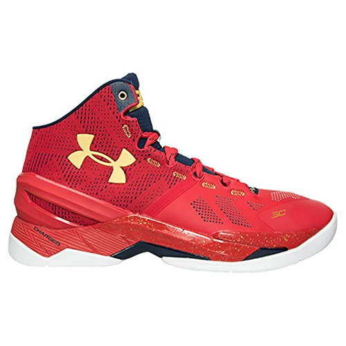 """Under Armour Curry 2""""Floor General 1259007-601 Red/ady/mgo Size 11"""
