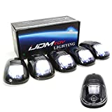 universal cab roof lights - iJDMTOY 5pcs White LED Cab Roof Top Marker Running Lights For Truck SUV 4x4 (Black Smoked Lens Lamps)