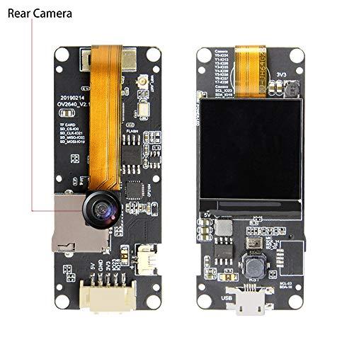 SODIAL T-Camera Plus Esp32-Dowdq6 8Mb Spram Camera Module Ov2640 1.3 Display Rear Camera(Fish-Eye Rear -
