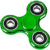 Fidget Spinner High Speed Metallic Green Classic 3 Prong Relief Toy