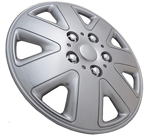 UKB4C Set of 4 15 Silver Wheel Trims//Hub Caps fits Nissan Micra Note Almera