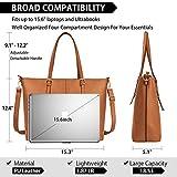 Laptop Tote Bag for Women 15.6 Inch Waterproof