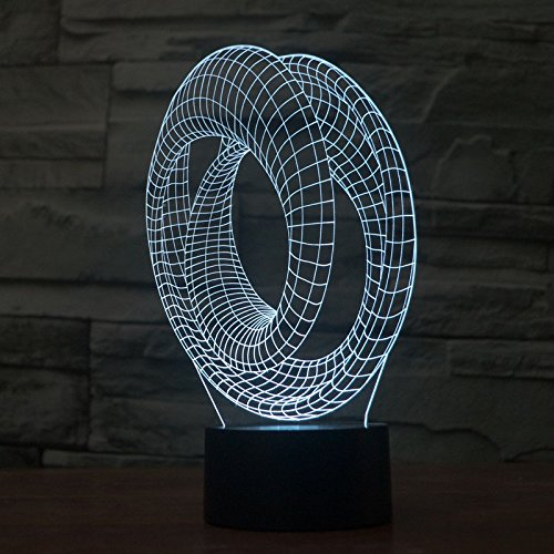 Comics+3D+Night+Lamp+ Products : Abstract Acrylic 3D Led Night Lamp Table Desk Light Touch Switch Usb 7 Colors