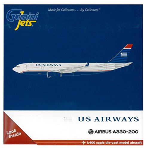 GeminiJets U.S. Airways A330-200 1:400 Scale Die Cast Aircraft