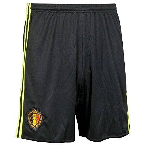 2016-2017 Belgium Home Adidas Football Shorts (Black)