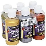 Sargent Art 22-4808 6 Pack 4-Ounce Metallic Acrylic Paint Set