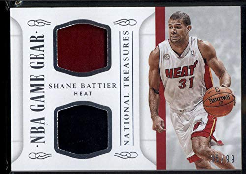 Shane Battier 2014-15 Panini National Treasures NBA Game Gear Duals #53 Jersey Patch /99 Basketball Heat NBA