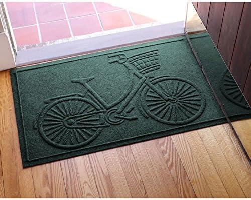 AquaShield Nantucket Bicycle Doormat, 2 x 3 , Evergreen