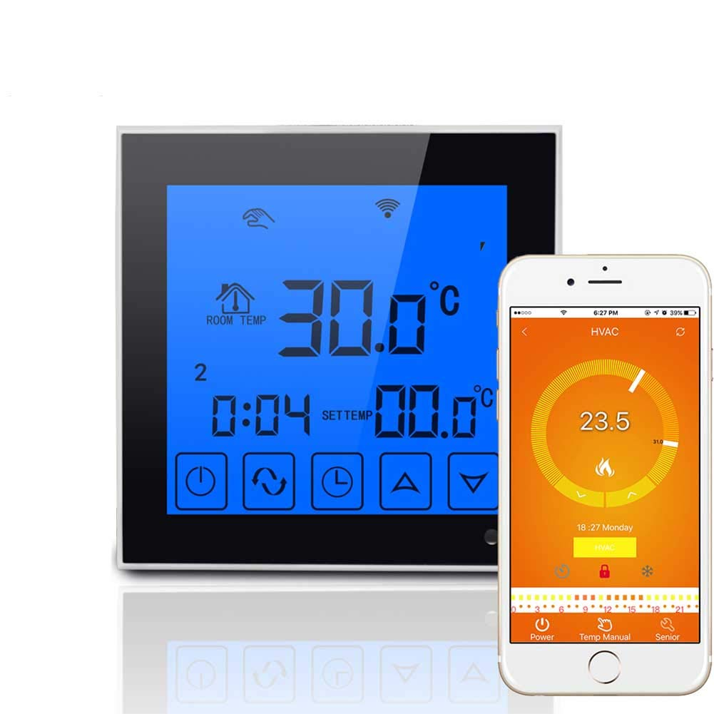 DishyKooker WiFi Large Touch Screen Display Thermostat Programmable Remote Temperature Controller by DishyKooker (Image #1)
