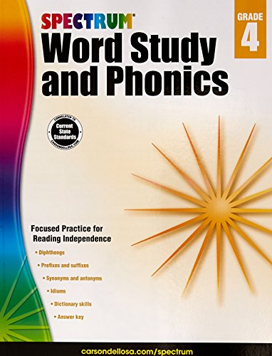 - Spectrum Word Study and Phonics, Grade 4