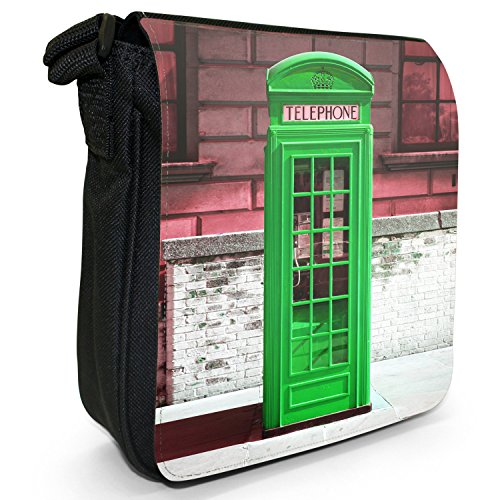 Telephone Shoulder The Green Box Black Canvas Small London Bag Size 5xwqw6fCZ