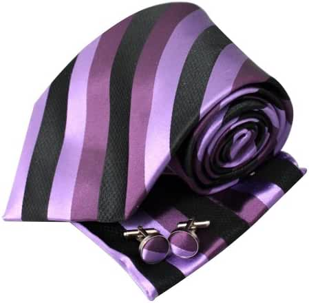 YAC1A17 Design for Bridegrooms Multicolored Striped Silk Necktie 3PT By Y&G