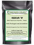 "Veggie Caps – 100% Vegetarian Capsules – Size ""00"" Bulk Clear Empty Vcaps(R), 500 count"