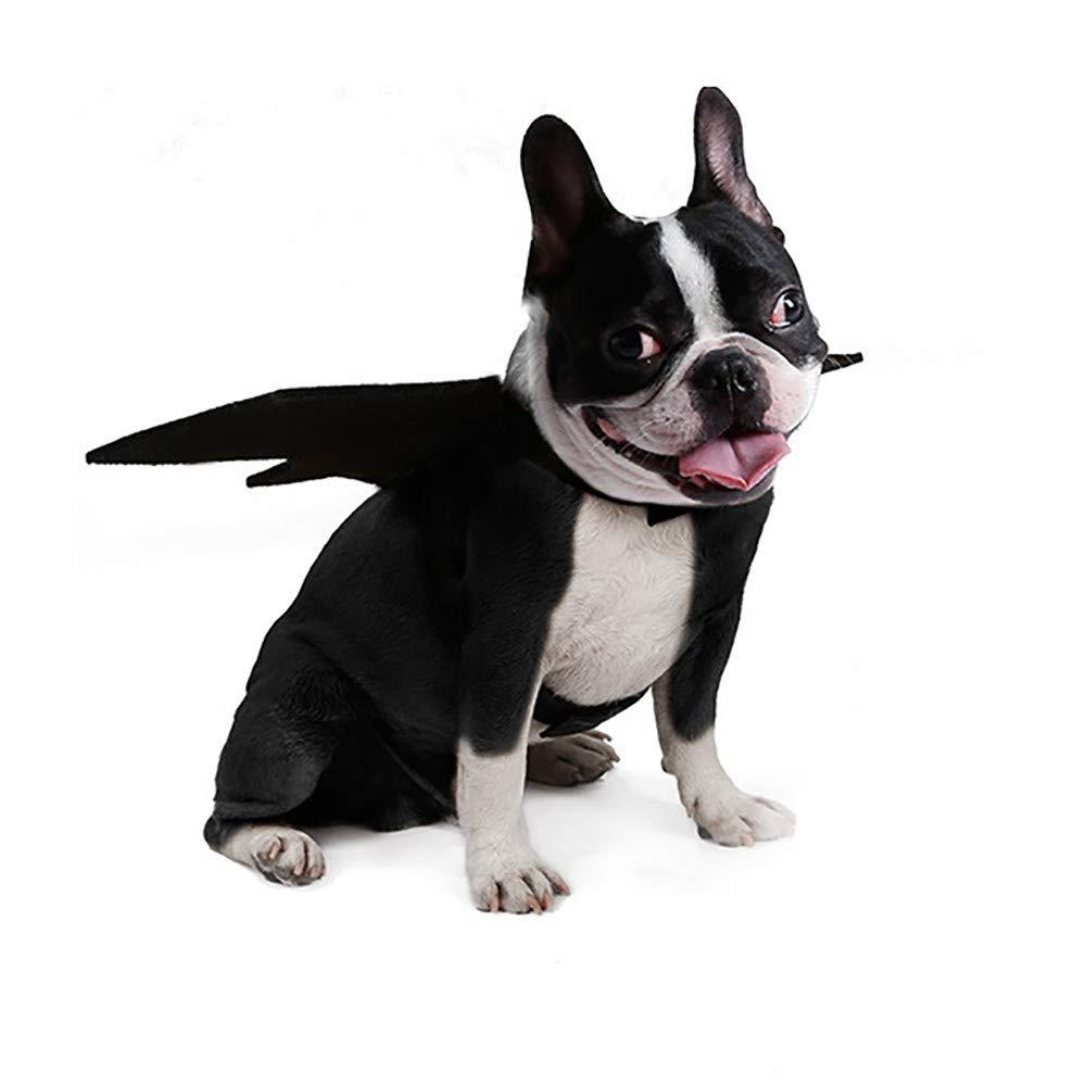 VêTements pour Chien,Animal Animal de Compagnie Chien Chat Chauve-Souris Vampire Halloween Costume Fantaisie Ailes,Manteau pour Chien (L, Noir) Kaiki Vetement Chien Vetement