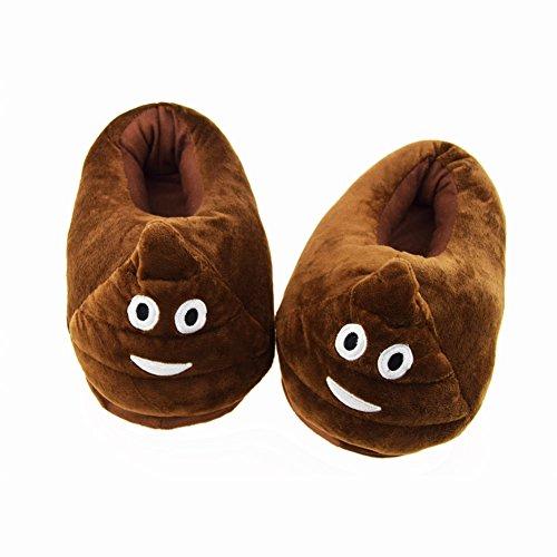 Candora - Zapatillas de estar por casa para mujer marrón marrón M