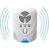 Raphycool Ultrasonic Pest Repellent with Blue Night Light, Electronic Pest Insect Control for Mice, Rodents, Ants, Cockroaches, Spiders