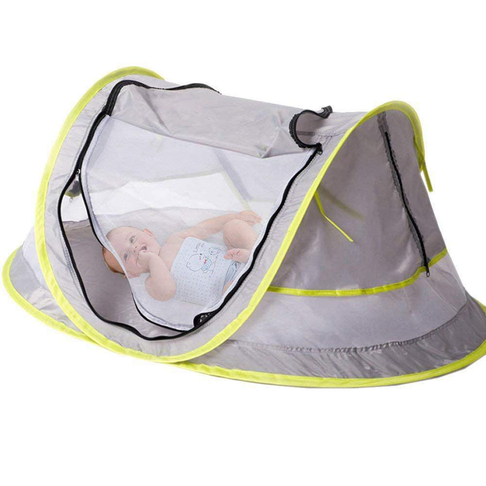 UPF 50 UV Protection Pop Up Baby Tent Infant Sun Shelter Pop Up Mosquito Net For Toddler Automatic Folding Baby Travel Tent Bed With 2 Pegs Baiwka Portable Baby Beach Tent Ultralight Weight