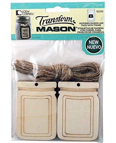Loew Cornell 1023702 Transform Large Wooden Mason Jar Tag...