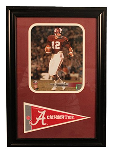 Encore Select 114-01 NCAA Alabama Framed Joe Namath Print and Pennant Flag, 12-Inch by 18-Inch by Encore