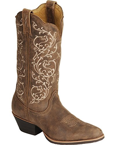 Twisted X Western Boots Womens Cowboy 8.5 B Bomber Brown WWT0025