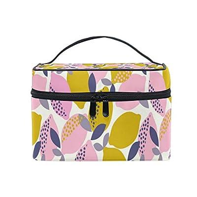 cab0b7718a ALIREA Lemons Pattern Cosmetic Bag Travel Makeup Train Cases Storage  Organizer free shipping