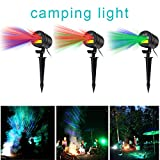 Starry Laser Lights Landscape Projector Lights Outdoor Waterproof Laser Lamp for Outdoor Garden/Yard/Wall Family Gathering Party KTV Wedding Night Club Decoration (Red and Blue)