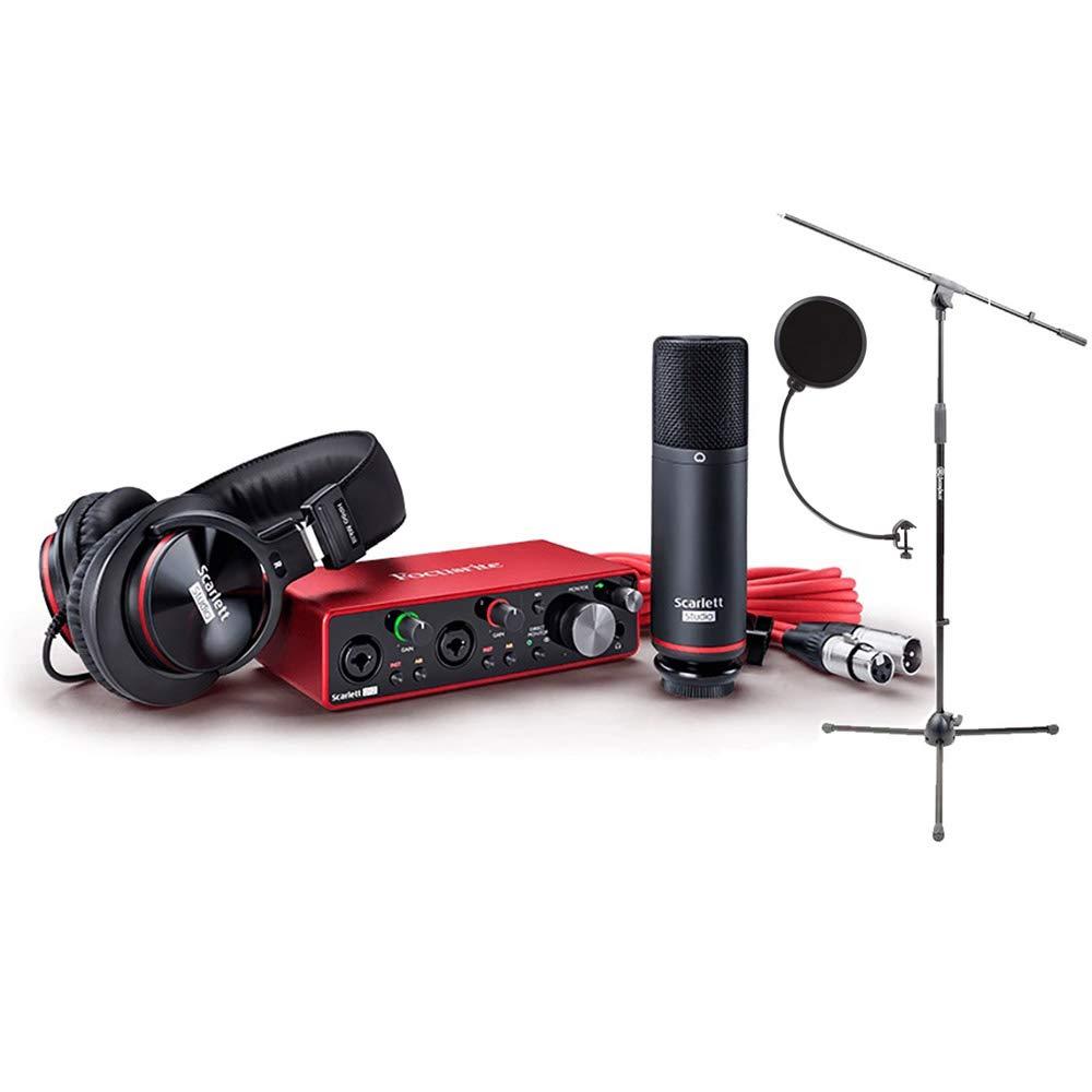 Focusrite 2i2: paquete con micrófono CM25, auriculares, 2...