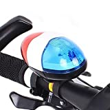 beiguoxia Bicycle Horn Bell with Light,Sounds Bike Bicycle Horn Bell Police Car Light Electronic Horn with Multifunction 6 LED 4 Tone