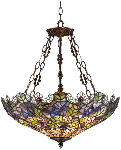 Floral Garden 3-Light Tiffany Glass Bowl Pendant from Robert Louis Tiffany