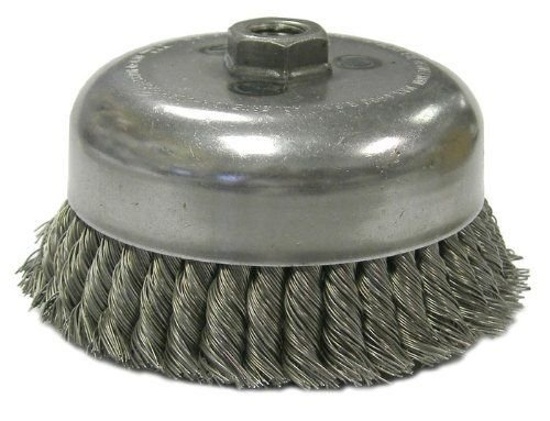 5//8-11 UNC NUT Made in The USA Weiler 12576 6 Double Row Knot Wire Cup Brush.035 Steel Fill