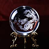 Wall of Dragon Laser Engraved Dragon Crystal Ball Globe Home Decoration Accessories Miniatures Gifts