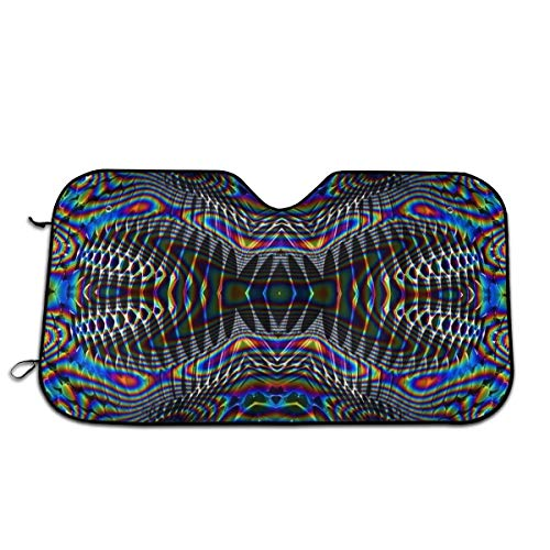 GBUIZ Psychedelic Trippy Picture Car Sun Shade UV Protector Shield Auto Window Windshield Cooler ()