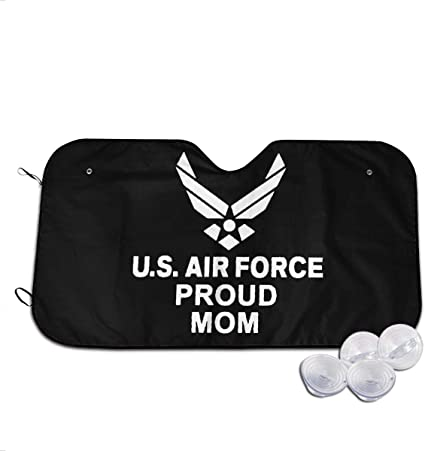 Laxoinh Proud Us Air Force Mom Car Foldable UV Ray Reflector Auto Front Window Sun Shade Visor Shield Cover