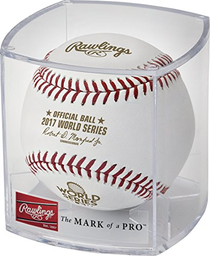 Rawlings Authentic 2017 MLB World Series On-Field Baseball with Display (Rawlings World Series)