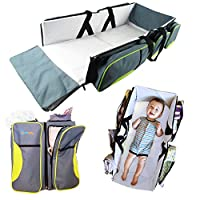 TRAVEL PORTABLE BASSINET DIAPER BAG - 3 in 1 Portable Changing Station, Trave...