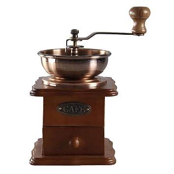 ParZ Molinillo de café, Molinillo de café de Estilo Vintage Especia Máquina de moler a Mano Manivela de Rodillos Máquina de café de Molino de Fresas de ...