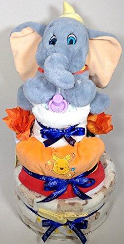 Panier de gâteau de couches à 3étages Disney Dumbo Bébé Garçon Babysfirstnight