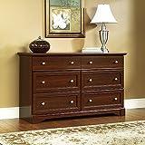 "nice traditional bedroom dresser Sauder 411830 Palladia Dresser, L: 57.64"" x W: 15.51"" x H: 33.78"", Select Cherry finish"