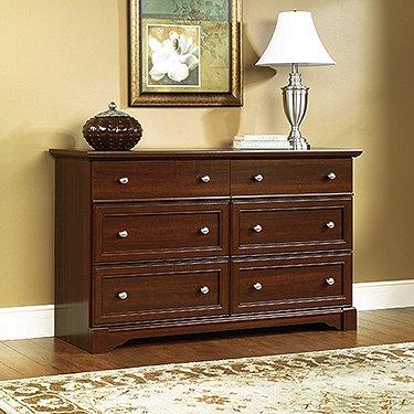 "Sauder 411830 Palladia Dresser, L: 57.64"" x W: 15.51"" x H: 33.78"", Select Cherry finish"
