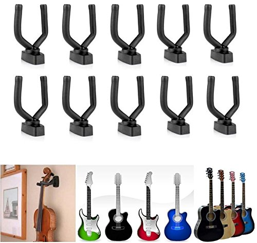 JM-capricorns Electric Bass Guitar Stringed Musical Instrument Wall Hanger Mount Holder Hook(10PCs)