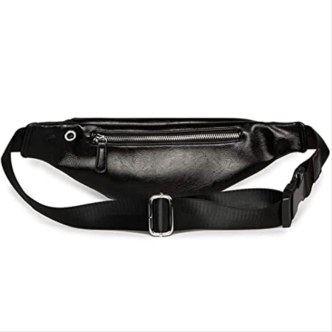 CMUKHI Waist Pack Luxury Leather Fanny Pack Men Waist Bag Fashion Adjustable Belt Bag Male Banana Bag Banana Sac: Amazon.es: Deportes y aire libre