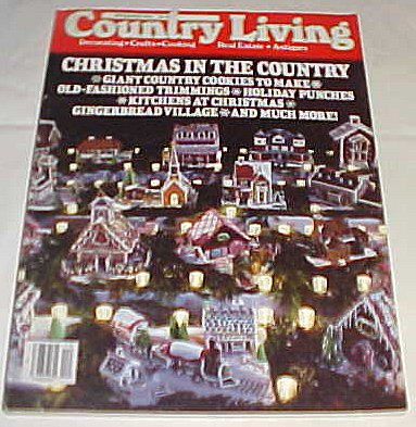 Country Living December 1984 (Christmas in the Country, Giant Country Cookies to Make, Old Fashioned Trimmings) (Living Christmas Cookies Country)
