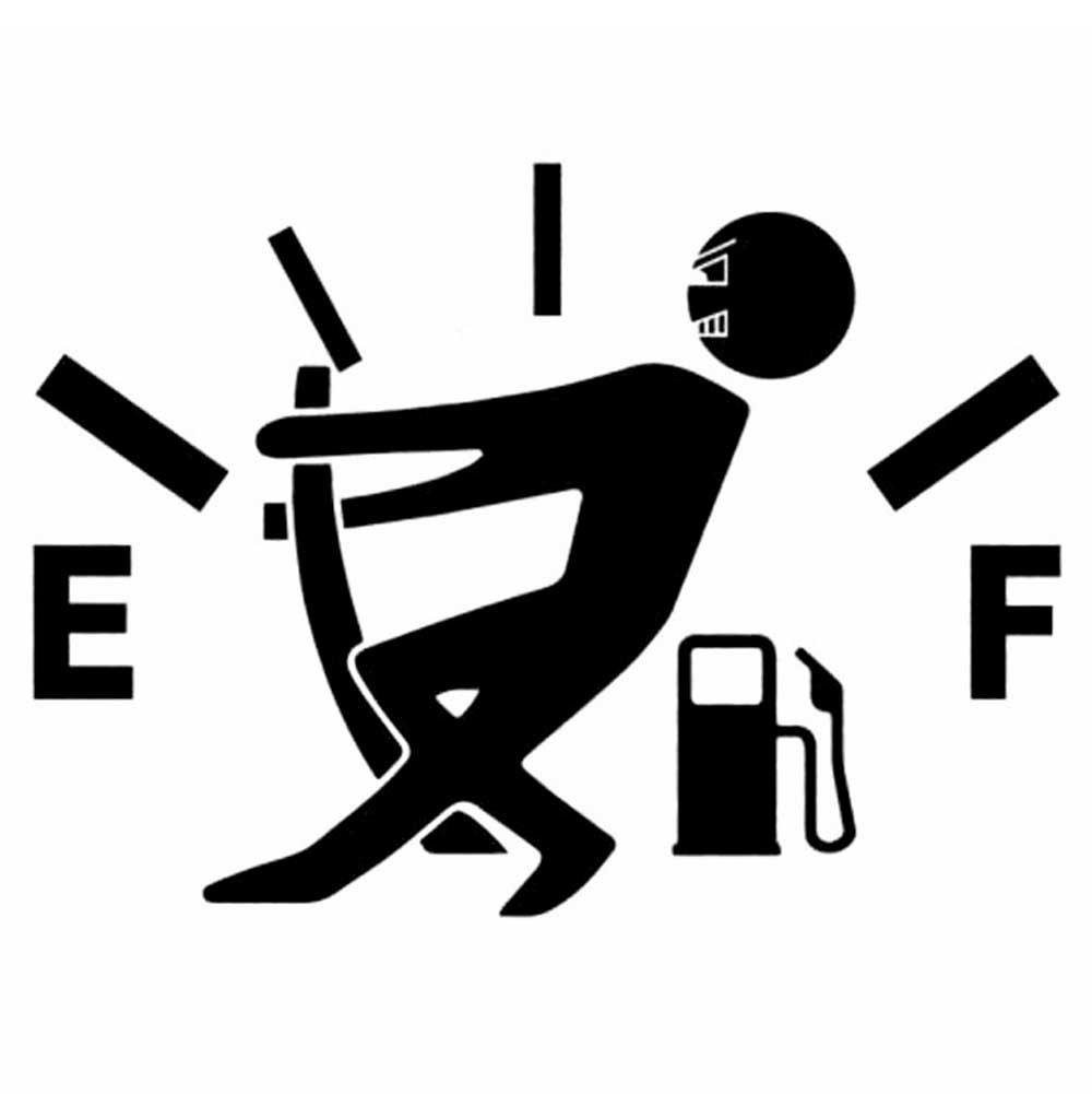 Adesivo sticker omino alza LANCETTA BENZINA carburante auto car tuning NERO