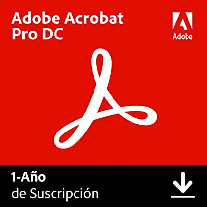 Adobe Acrobat DC | Pro | 1 Año | PC/Mac | Código de