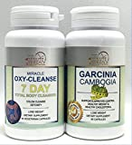 oxy body - WEIGHT LOSE COMBO - MIRACLE OXY CLEANSE 7 DAY TOTAL BODY CLEANSER AND GARCINIA CAMBOGIA